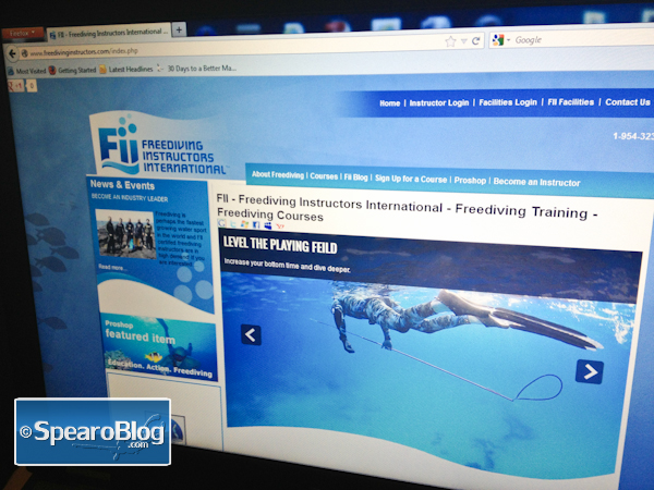 Signed Up for FII – Level 1 Freediver Course
