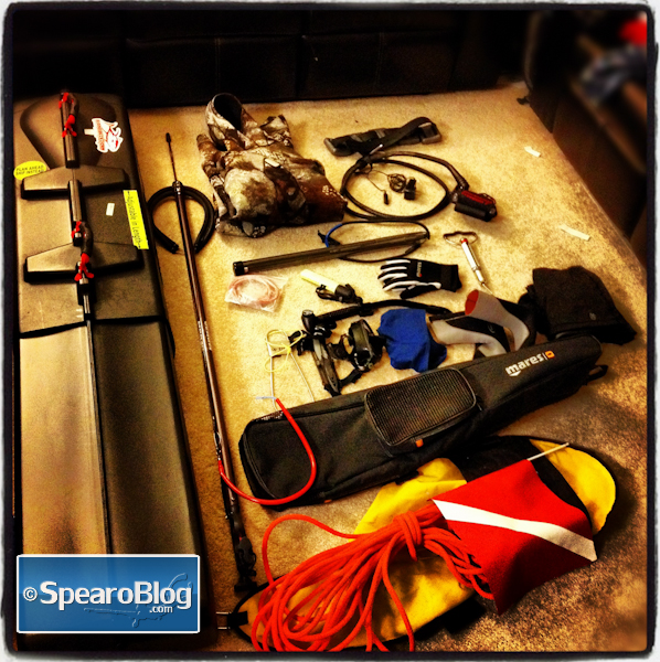 Spearfishing Gear and Travel