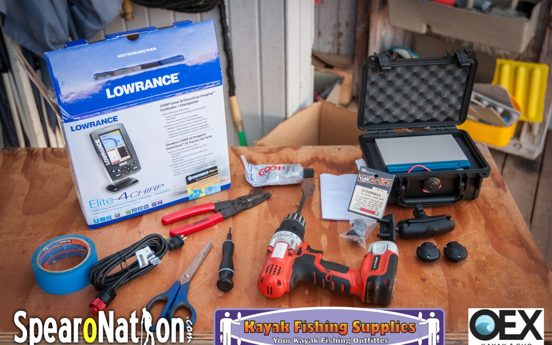 Lowrance Elite 4 CHIRP Kayak Installation (Kraken 13 5
