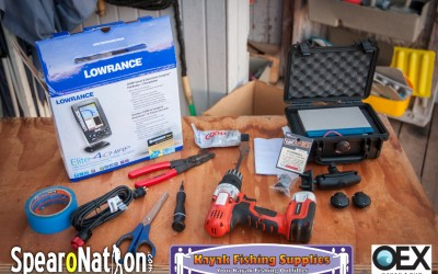 Lowrance Elite 4 CHIRP Kayak Installation (Kraken 13.5) – Spearfishing Kayak Setup
