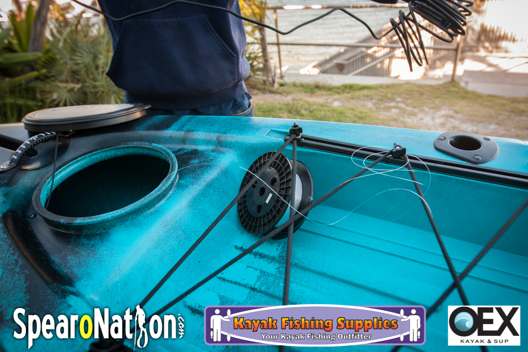 Lowrance elite 4 chirp kayak installation kraken 13 5 for Fishing canoe setup