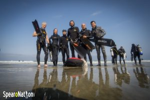 Freedivers on La Jolla Shores Beach